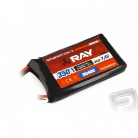 G3 RAY Li-Pol 350mAh / 7.4 30 / 60C Air pack 2.6Wh