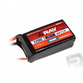 G3 RAY Li-Pol 1200mAh / 11.1 30 / 60C Air pack 13.3Wh