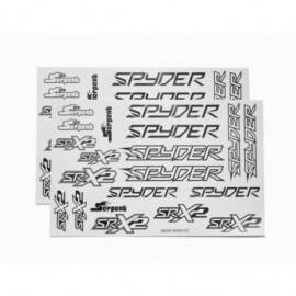 Decal sheet spyder black/white (2)
