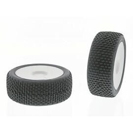 EASY (X Extrasoft směs) Off-Road 1:8 Buggy gumy nalep. na bílých disk. (2ks.)
