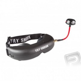 Fat Shark Attitude V2 vč. vysílače, kamery a lipol baterie - použité na testy