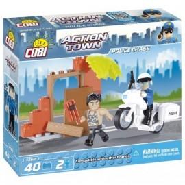 COBI ACTION TOWN Policie - honička na motorce 40 k, 2 f