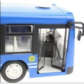 RC Bus with opening door 33cm for remote control blue""