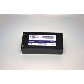 4800mAh 7,4v - 90C short pack hard case battery