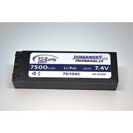 Profimodel Li-po hardcase baterie 7500mAh 7,4V - 75/150C