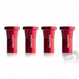 Distance pillar 30mm M6 Red 4pcs