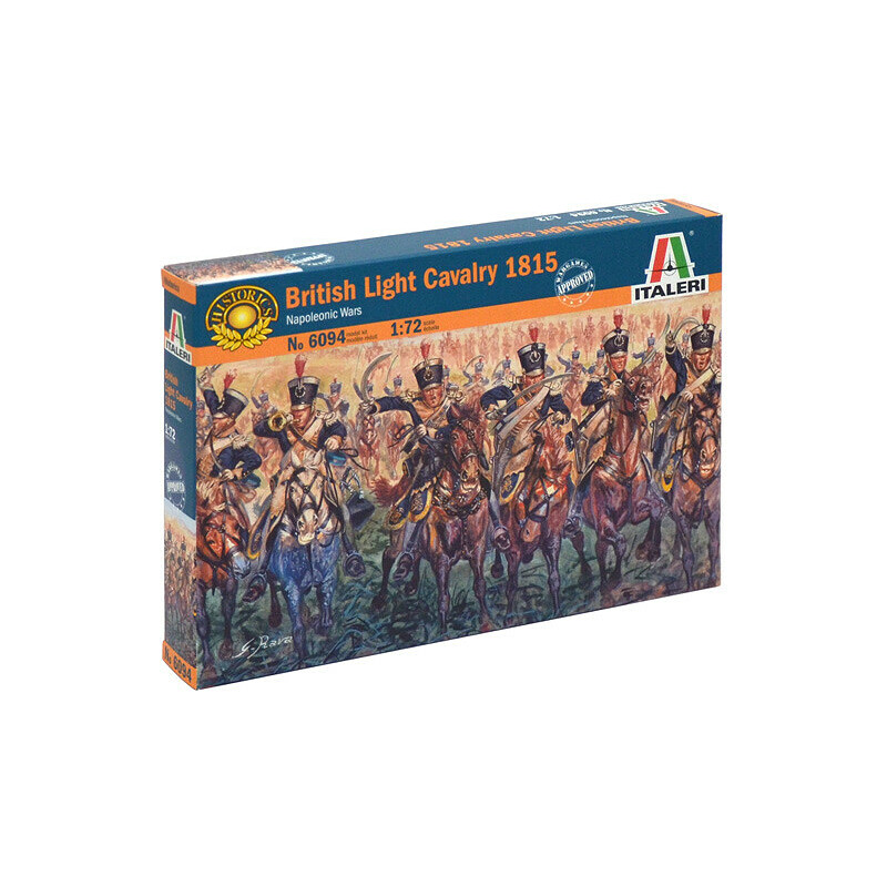 Model Kit Figures 6094 - NAPOLEONIC WARS - BRITISH LIGHT CAVALRY 1815  (1:72) - Profimodel cz