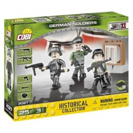 COBI 3 figurines with accessories German Army, 25 HP