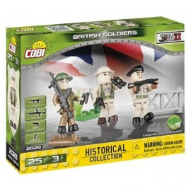 COBI 3 figurines with British Army accessories, 25 hp