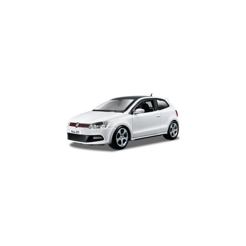 Volkswagen VW Polo Gti Mark 5 2010 White 1:24 Model BBURAGO