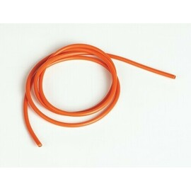 Silicone cable 3.3qmm, 12AWG, 1 meter, orange