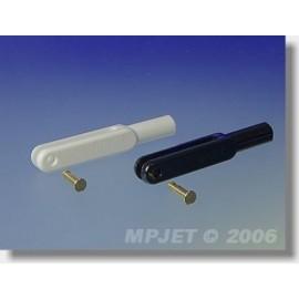 2120 Widelec z tworzywa sztucznego, l 45 mm, szerokość rowka 3, sworzeń pr.2,5, M3 2 szt