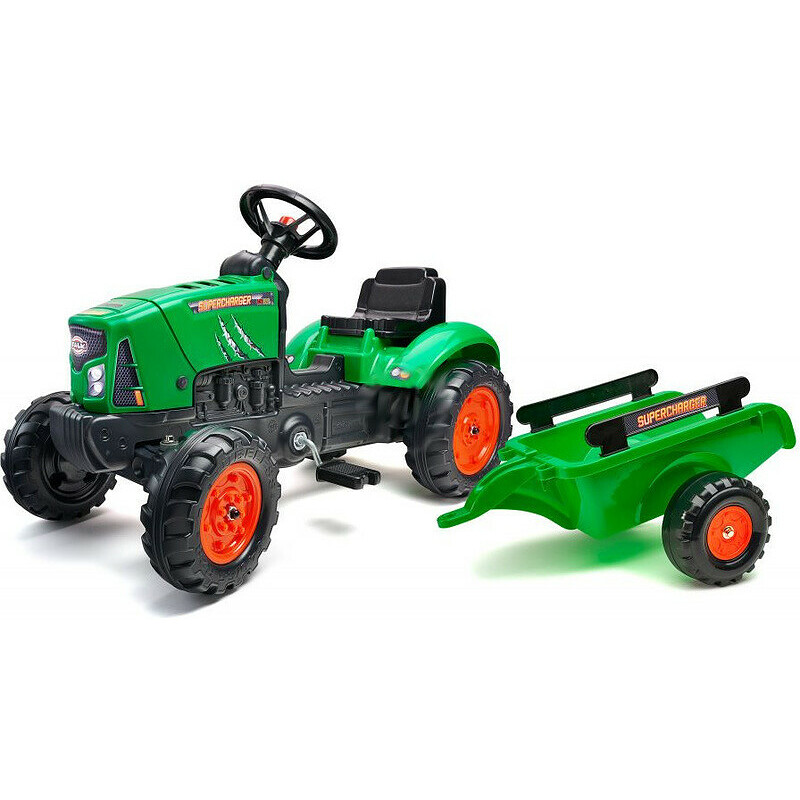 3bf5c6d3f FALK - SuperCharger pedal tractor with green siding - Profimodel.cz