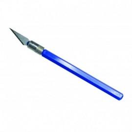 12041 Nůž PRO GRIP 4, blisrt, modrý, 1 ks.